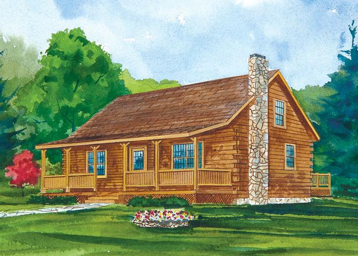 Brookside Log HomeDehart Development   PLANS. 2 Bedroom Log Home Designs. Home Design Ideas
