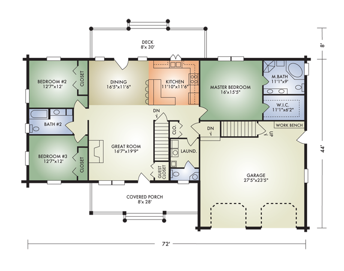 Dehart development plans for Ranch floor plans with mudroom