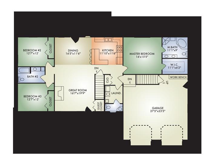 Open concept floor plans for ranch homes gurus floor for Ranch floor plans with mudroom