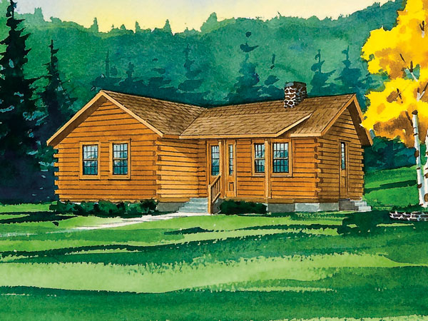 Johnsonville I Log Home 1064 Sf 2 Bedrooms